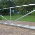 Připravený rám posuvné brány před montáží.